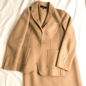Beautiful Camel Wool Talbots Blazer With Skirt 4P